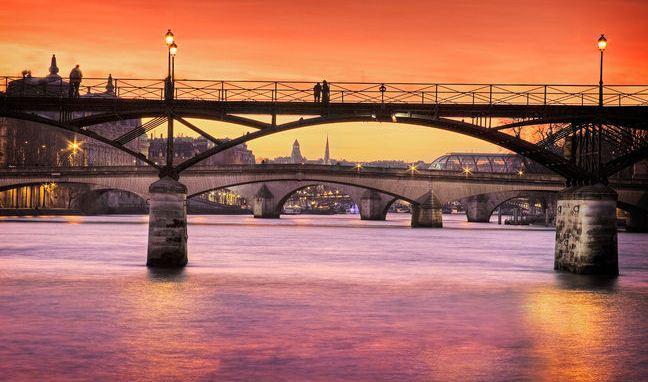 巴黎 Pont Neuf看日落