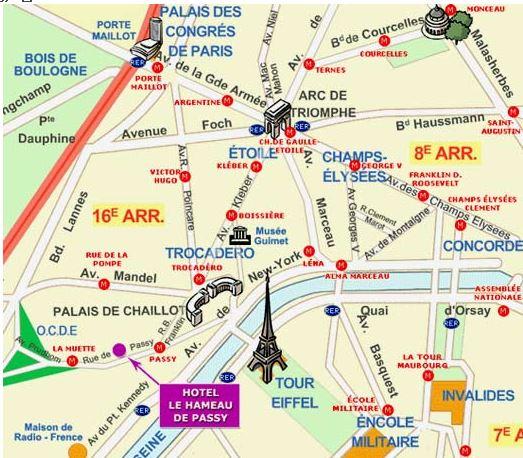 巴黎16区地图