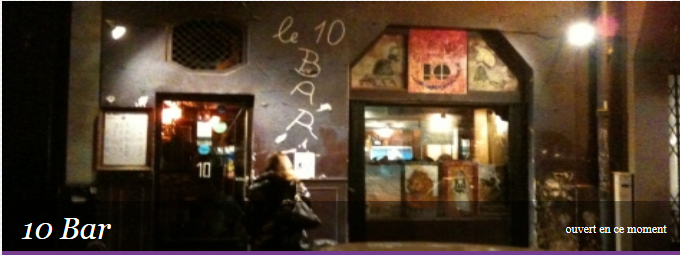 巴黎6区Le 10bar酒吧