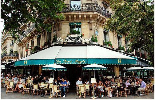 法国巴黎街区早餐地图