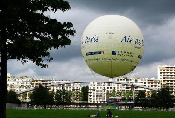 巴黎雪铁龙公园里的热气球