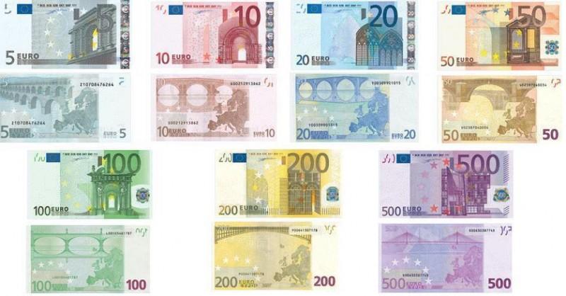 如何识别欧元假钞票