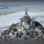 """法国""""泰山""""瞬间变孤岛: 圣米歇尔山 Mont saint michel"""